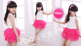 Wholesale Tutu Skirts Size Girls - Wholesale -Girl summer tutu skirt girl fashion dress,girl skirts children 10 colors 5 sizes free shipping