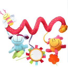 Wholesale Elc Shipping - Free shipping ELC animal baby bed circle  round multipurpose baby plush toy with BB instrument
