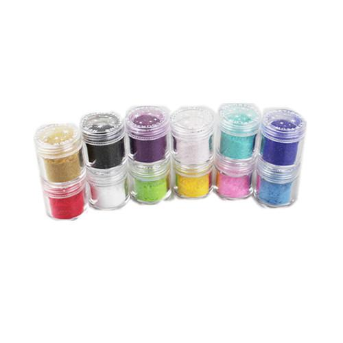 / lote Pro 12 cores Villus Carving Padrão Pó Esculpido Colorido Para Nail Art Glitter
