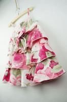 Wholesale Sunmmer Dress - 2017 Sunmmer Girl's Dresses Good design Braces dresses Children dresses Girls Pleasantly cool flower Cake dress 5pcs lot