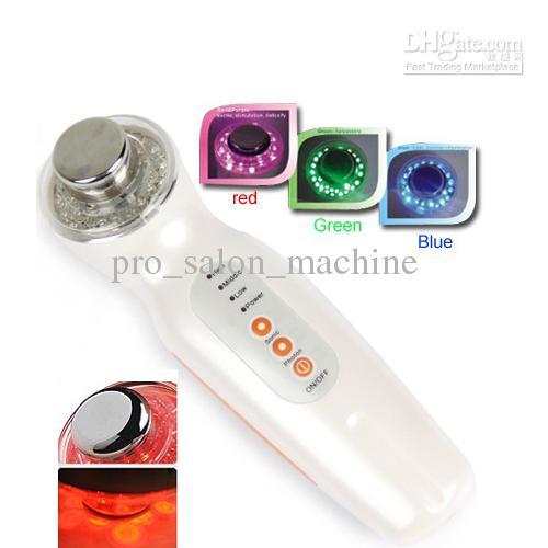 최저 가격! 컬러 광자 LED 피부 회춘 빛 치료 3 MHz의 초음파 장비 미용 기기 기계