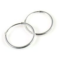 925 серебряных носовых колец оптовых-Серьга стерлингового серебра 925 1/2 inch = 13mm Бесконечные серьги обруча для ушей, носа и губ, 5pair / lot PT-699