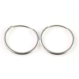 Wholesale Indian Nose Rings - earring Sterling Silver 1 2 inch=13mm Endless Hoop Earrings for Ears,Nose and lips ear rings 40pair lot,PT-699