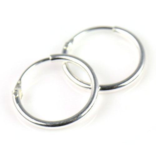 Sterling Silver Små Endless Hoop Örhängen för brosk, näsa och läppar, 3/8 tum = 9,5 mm, pt-698