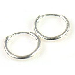 Wholesale Cartilage Earrings Endless Hoop - Sterling Silver Teeny Endless Hoop Earrings for cartilage,Nose and lips,5 16 inch=8mm PT-697