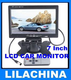 """Wholesale Video Headrest - 7"""" TFT Color LCD 2 Video Input Car RearView Headrest Monitor DVD VCR free shipping"""