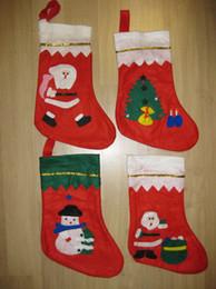 grandi sacchetti di santa all'ingrosso Sconti 5pcs lotti nuovi calzini di Natale regalo di Natale calze di Natale grandi decalcomanie regalo calzini mix design