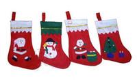 acryl urlaub baum großhandel-Hohe Qualität neue Geschenktüte 2017 Weihnachtsstrümpfe Patch Socken Christbaumschmuck Anhänger Weihnachtsdekoration Geschenk 10 Stücke viel