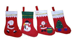 Wholesale Tree Patches - high quality new gift bag 2017 Christmas stockings Patch socks Christmas tree ornaments pendant Christmas decoration gift 10pcs lot