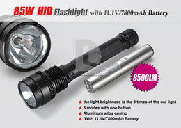Wholesale Distance Lights - 85W HID Lamp 8500 Lumen Xenon Flashlight Torch 2000M Light Distance + Carry Box S565