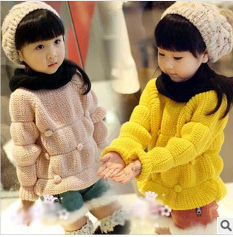 Girls Pullover Girls Sweaters Long Sleeve Top Cute Baby Korean Style ...