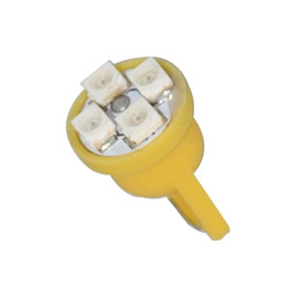 Wholesale 158 bulb led - 10pcs YELLOW AMBER 4 SMD LED T10 194 2825 168 158 light bulbs license plate