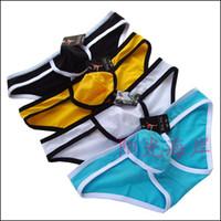 Wholesale Wholesale Nylon Mesh Shorts - Sexy Men's Briefs Underwear Breathable Mesh Shorts Briefs Smooth Nylon Underpants Pants U-Design Pouch Fashion MIX Colors 100pcs