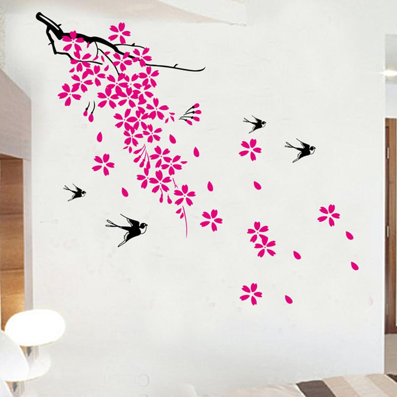 Dm6907 Cherry Blossom U0026Amp; Birds Removable Wall Decal Sticker Decor Mural Art  Wall Decals Stickers Stickers Wall Decoration Stickers Wallpaper From ... Part 36