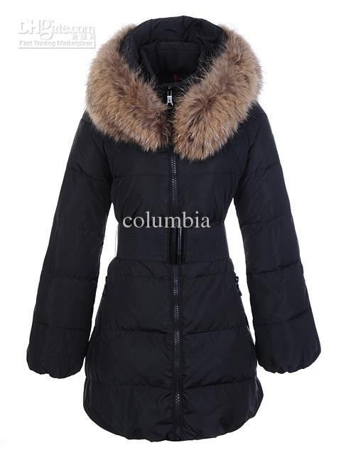 2018 New Winter Warm Women'S Down Jacket Big Fur Collar With Belt ...