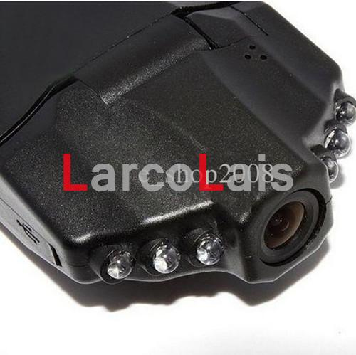 HD-bilkamera DVR vidvinkel 270 graders rotation 2,5 tum LCD 6 IR Nattvisningsbil DVR Svart låda