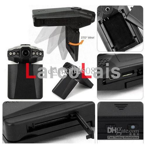 HD車のカメラDVR広角270度回転2.5インチLCD 6 IRナイトビジョンカーDVRブラックボックス