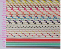 Wholesale Drinking Straws Dotted - 60 colors optional Drinking Paper Straws, Sip Sticks, wedding party straws, Striped poka dot