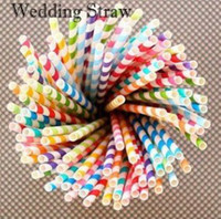 Wholesale events party supplies - Colorful Paper Drinking Straws Birthday Wedding Decorative Party Event Hawaiian Holidays Luau Sticks KTV Supplies Creative Drinking Straws