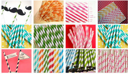 Wholesale Wholesale Papers Straws - Colorful Paper Straws - Biodegradable - Available in 60 Colors Retro Vintage Style Durable