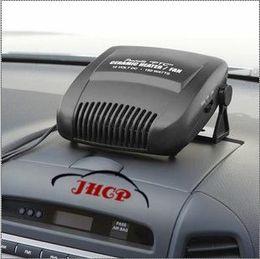 Wholesale Heat Fan Car Cooler - 12V Car Auto Vehicle Portable Ceramic Heater Heating Cooling Fan Defroster Black