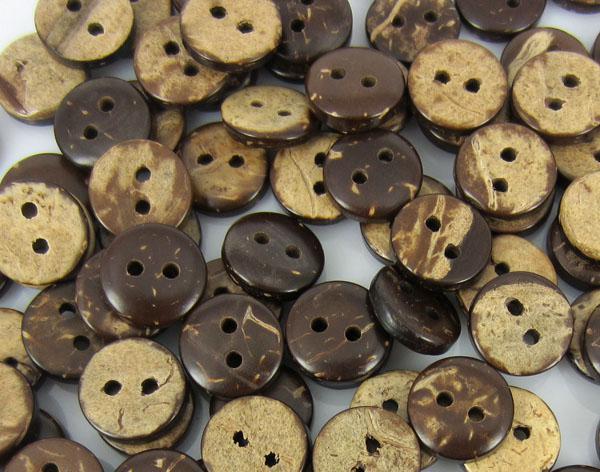 Çikolata dairesel hindistan cevizi düğme konfeksiyon dikiş iyi araç 10mm