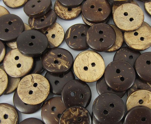 Bouton de coco circulaire en chocolat à coudre un bon outil 10mm