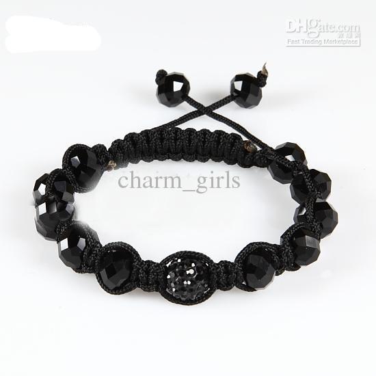 10 stks * Macrame 10mm Disco Ball Pave Beads 10mm Crystal Armbanden Sieraden Armband Sieraden
