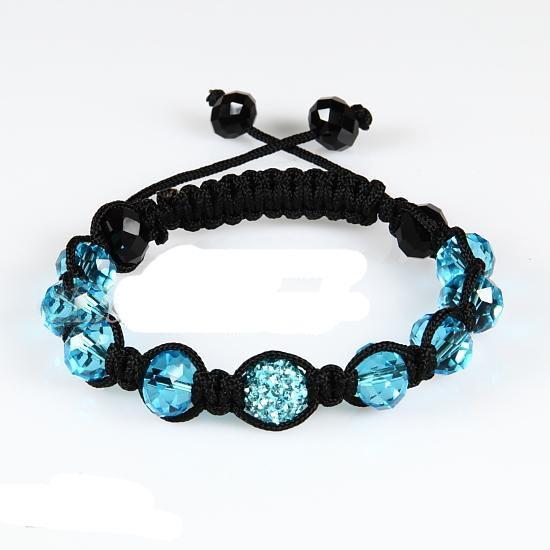 10 unids * Macrame 10mm discoteca pavimenta perlas 10mm crystal bracelets joyería brazal joyería