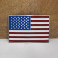 cintos de bandeira venda por atacado-BuckleHome moda bandeira DOS EUA fivela de cinto de metal fivela de cinto com acabamento de estanho FP-01194-1 frete grátis