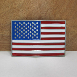 BuckleHome fashion US flag belt buckle metal belt buckle with pewter finish FP-01194-1 free shipping on Sale