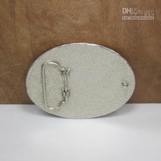 BuckleHome Fashion Film hebilla de cinturón con acabado plateado y color esmalte FP-02059 envío gratis