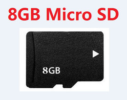 Wholesale Flash Card Readers - REAL 8GB MicroSD Card Real 8 GB MicroSD HC SDHC TF Flash Memory Cards with SD Adapter HK post