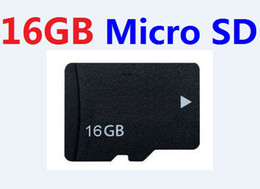 Wholesale microsd tf cards - Genuine 16GB micro Memory Card Class6 Class 6 Microsd SD HC Real 16 GB class6 TF cards w adapter