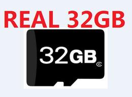 Wholesale Genuine Micro Sd Cards 32gb - FREE DHL, Real 32GB Full Capacity Micro SD SDHC Memory Card Class 6 New Genuine 32GB TF Cards 20pcs