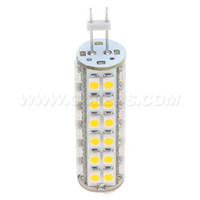 LED G4 Bombilla de maíz 51leds 3528 SMD Dimmable 3W 400LM Blanco Blanco caliente Bin-pin