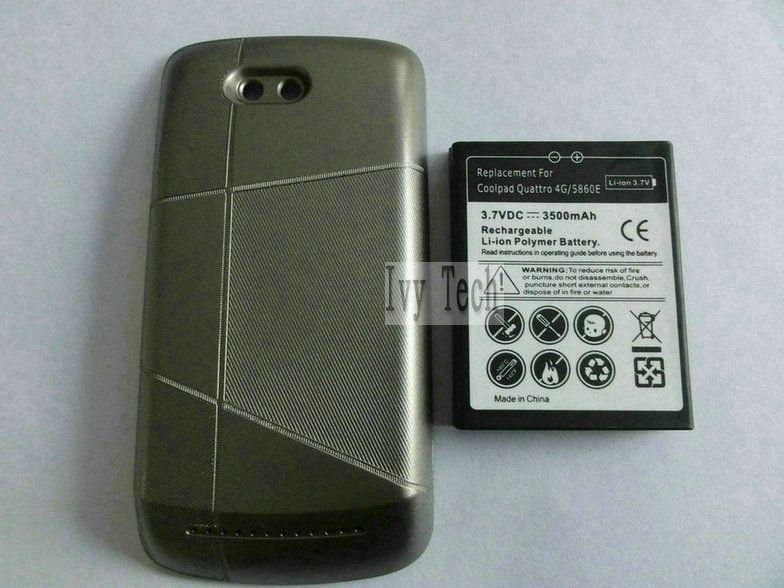Coolpad quattro 4g 5860E 확장 배터리 (배터리 커버 포함) 3500mAh 50pcs / lot