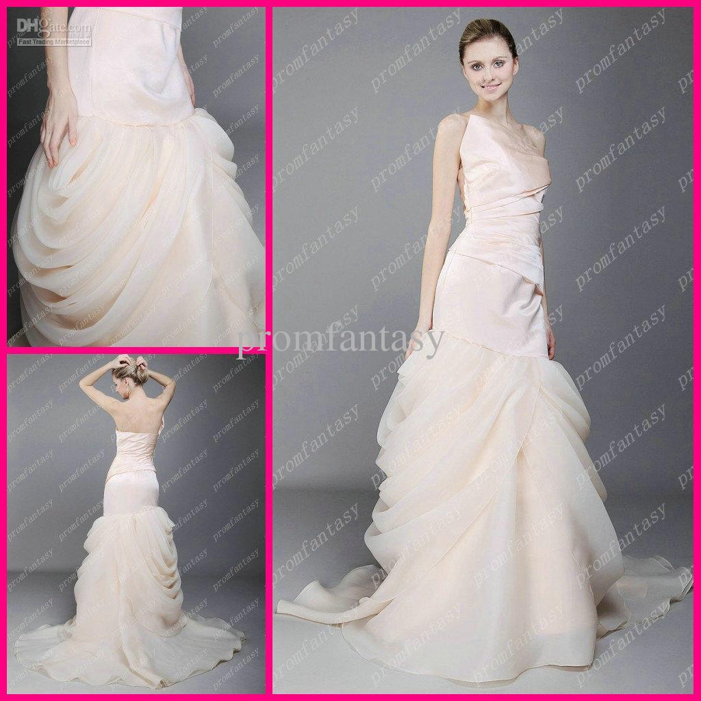 Wholesale One Shoulder Fashion Wrap Dress Organza Bubble Fall Winter ...