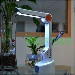 Abs Plastic Speakers Canada - Solar panel lamp Radio+LED torch light+Reading lamp+Hand crank charge+Speaker Solar LED Light