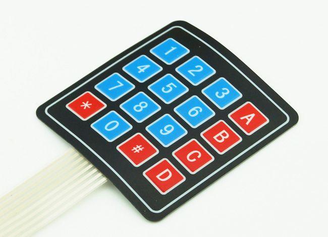 10 stks / partij 4x4 16 sleutel matrix membraan schakelaar toetsenbord toetsenbord super slanke gratis verzending # BV104 @CF