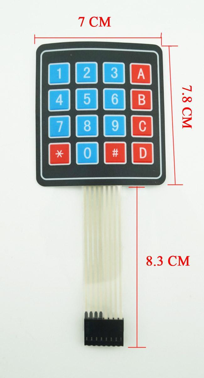 20 Teile / los Neue 4x4 Matrix Array 16 Schlüssel Membranschalter Tastatur Tastatur Kostenloser Versand # BV104 @ CF