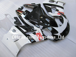 Wholesale 98 Gsxr Fairings - white black custom fairing kit for 1996-2000 SUZUKI GSXR 600 750 GSXR600 GSXR750 96 97 98 99 R600