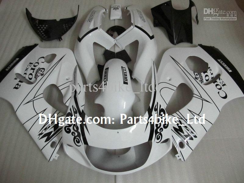 Vit Corona Alstare Fairings Kit för 1996-2000 Suzuki GSXR 600 750 GSXR600 GSXR750 96 97 98 99 R600