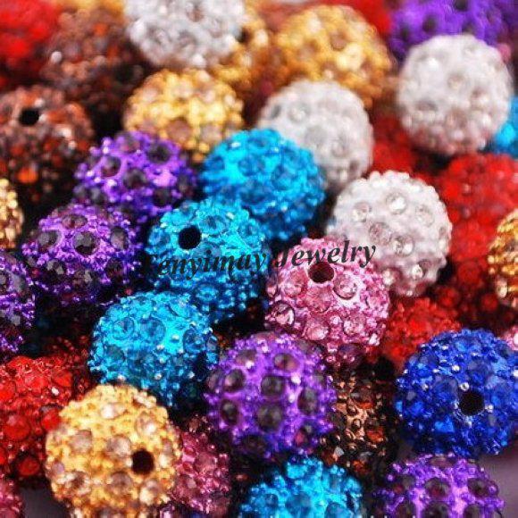 10mm strass spacer kralen pave disco bal kralen gratis verzending gemengde kleur