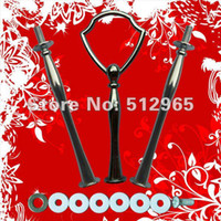 Wholesale Wholesale Cake Tier Stand Holders - 3 tiers plate holders in sliver color cake stand handle cake stand fitting
