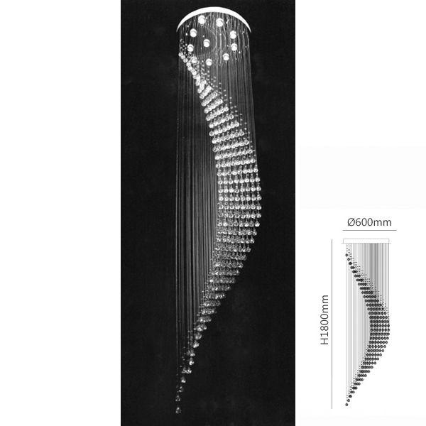 lustre en cristal k9 salon lampe en cristal Diamètre 600mm