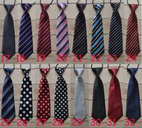 Wholesale Elastic Neckties - School Boys Childrens Kids On Elastic Tie Necktie Diffrent Styles Black Skeleton Head Design