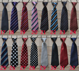 Wholesale Elastic Neckties - School Boys Childrens Kids On Elastic Tie Necktie Diffrent Styles Black Skeleton Head Design