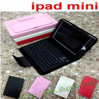 Wholesale Wireless Silicone Keyboard For Pc - Wholesale - Bluetooth Wireless silicone Keyboard leather case for 7.9' ipad Mini ipad mini 2 retina Tablet PC Stand