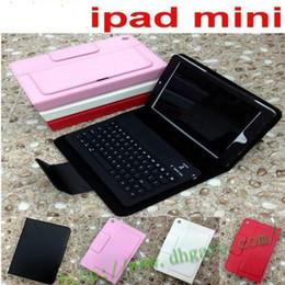 Wholesale Ipad Mini Folding Keyboard - Wholesale - Bluetooth Wireless silicone Keyboard leather case for 7.9' ipad Mini ipad mini 2 retina Tablet PC Stand